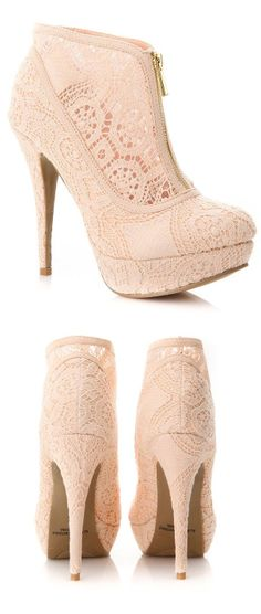 Blush Lace Booties <3