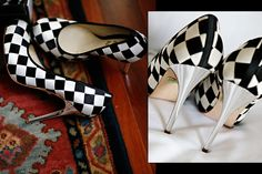black and white wedding shoes!  captured by Marie Labbancz