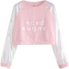 Pink Contrast Raglan Sleeve Letter Print Crop Sweatshirt (€11) ❤ liked on Polyvore featuring tops, hoodies, sweatshirts, pink, sweaters, print crop tops, long sleeve pullover, pullover sweatshirt, raglan sleeve sweatshirt and long sleeve crop top