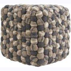 @Overstock.com - Mandara Felted Beige/ Taupe/ Grey Wool Poufs  (0) - Mandara Felted poufs are hand-crafted from exotic balls of wool. This accent piece makes a great accessory to any room. This Mandara Felted pouf will provide a great look and is available in mixed shades of beige, taupe and charcoal grey.  http://www.overstock.com/Home-Garden/Mandara-Felted-Beige-Taupe-Grey-Wool-Poufs-0/6393798/product.html?CID=214117 $202.50