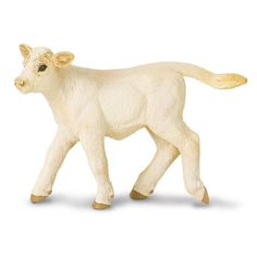 This is a Charolais Calf animal figure that is produced by Safari Ltd. The Charolais Calf is hand painted and well detailed. Safari is known for their accuracy of lifelike and realistic figures of ani