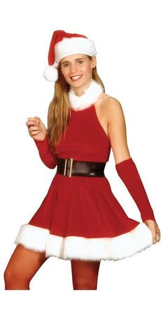 I34 Santa Claus Christmas Helper Fancy Dress Costume Xmas Party Outfit /& Hat