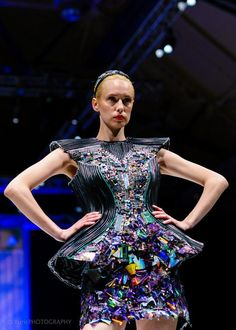Masha Titova, a Junior at the Massachussetts College of Art and Design and a Descience enthusiast created this dress. It contains no fabric whatsoever.