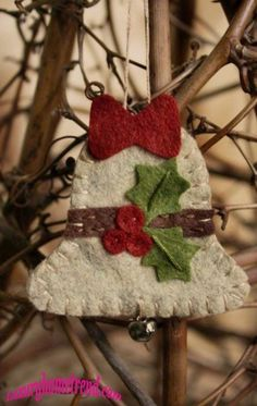 Christmas ornaments felt