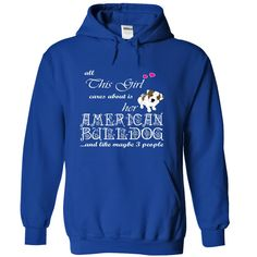 This girl cares about is her AMERICAN BULLDOG T Shirt, Hoodie, Sweatshirt