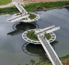Nilüfer Bitkisi Şeklinde Yaya Köprüsü