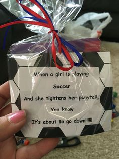 Girls soccer team treat bags filled with ponytail holders Soccer Locker, Girls Soccer Team, Soccer Players, Nike Soccer, Soccer Treats, Soccer Gifts, Team Gifts, Soccer Stuff, Sports Gifts