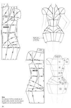 Pattern Cutting, Pattern Making, Clothing Patterns, Sewing Patterns, Tailored Fashion, Barbie Mode, Patron Vintage, Smocks, Modelista