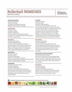 Rollerball recipes - need cut the drops drastically (way to many in one roller bottle!!) but looks like some good blends.