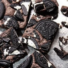 Image de food, oreo, and chocolate Staub Recipe, Japan Dessert, Valentines Baking, Blondie Bar, Sweet Box, Oreo Dessert, Bread Cake, Cafe Food, Sweets Recipes