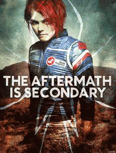 Literally just realized my hair is red like Gerard's is/was. I never want to change it now.