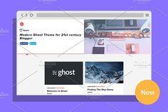 Azure - Modern Ghost Theme by Pozi Design on @creativemarket