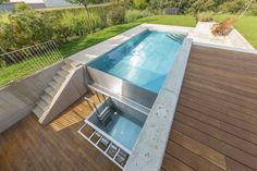 Overflow swimming pool connected with sauna cooling pool Waterworks, Swimming Pools, Outdoor Decor, Beautiful, Design, Home Decor, Iceland, Gardens, Stainless Steel