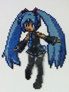 Perler Bead: Miku Vocaloid by thewiredslain on DeviantArt