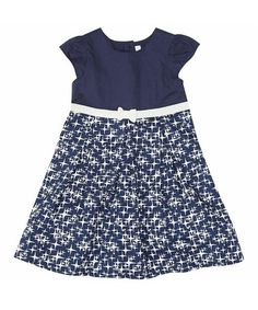 Take a look at this Navy Stars Party A-Line Dress - Infant, Toddler & Girls by JoJo Maman Bébé on #zulily today!