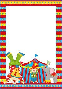 Marcos, Invitaciones, Tarjetas o Etiquetas del Circo para Imprimir Gratis.
