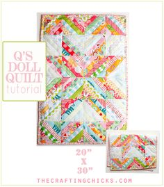 Easiest Strip Quilt for DOLLS