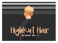 """syaovu: """" HighKut Hair First hair I try to make in Sims4, seem it doesn't have like shave around but still keep the hair drop down, so I decide to make one. It is cut from base game hair so little bit..."""
