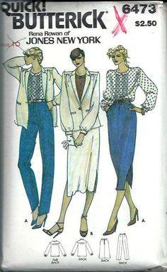 Jones New York Jacket Blouse Skirt & Pants by DawnsDesignBoutique