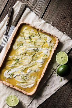 lime curd tart with whipped coconut milk
