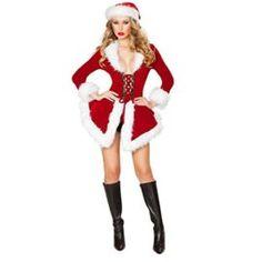56fba72f229 Quesera Women s Christmas Lingerie Sexy Santa Outfit Dress Velet Corset  Costume