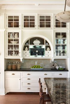 unique way to install espresso bar... Kitchen Pantry, New Kitchen, Kitchen Decor, Stylish Kitchen, Kitchen Backsplash, Kitchen Ideas, Kitchen Buffet, Long Kitchen, Kitchen Black
