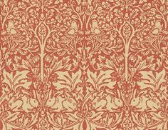 Brer Rabbit (DMORBR106) - Morris Wallpapers - Adapted by Morris from 17th Century Italian Silk and also known as Brother Rabbit. Alternative colourways and complementary fabrics available.
