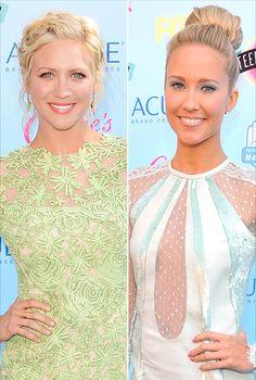 Anna Camp and Brittany Snow at teen choice awards 2013 #makeup