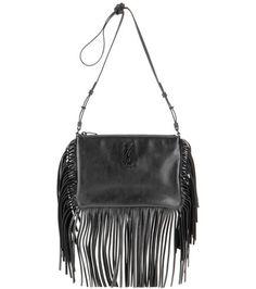 Saint Laurent Small Monogram Fringed Leather Shoulder Bag For Spring-Summer 2017