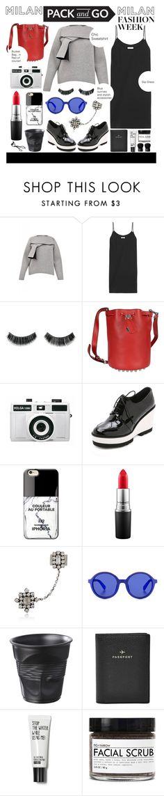 """Milano Pack and Go"" by julietacelina ❤ liked on Polyvore featuring MSGM, Equipment, Alexander Wang, Holga, Paloma Barceló, Iphoria, MAC Cosmetics, DANNIJO, Etnia Barcelona and Revol"