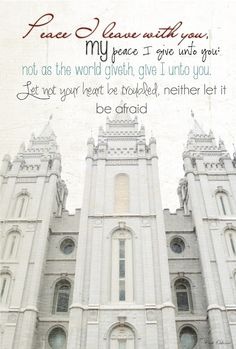 LDS Planners for Mormon Moms: Temple Quotes - John 14:27 - I recited this today! Would you look at that?