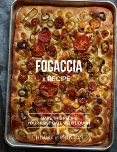 Focaccia Recipe with Tomato and Onion from House of Brinson