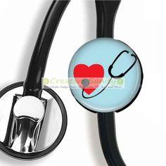 Stethoscope ID Tag Heart Stethoscope Nurse by CreativeSanity, $7.50