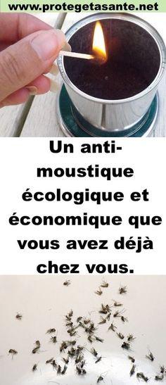 Un anti-moustique écologique et économique que vous avez déjà chez vous.