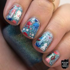 Sea Critters // Polish Those Nails // Inspired by Anette Heiberg // nail art - zoya - animals