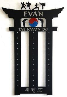 Martial Arts Belt Holder: Taekwondo Belt Display: Karate Belt Rack #10-belt-display #10-level-belt-display #10-level-