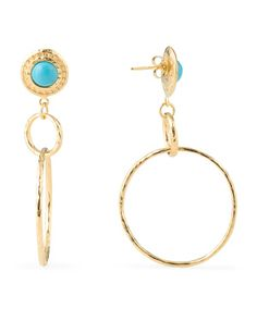 Made In Italy 18k Gold Plated Sterling Silver Earrings MILOR ITALY - $49.99 - T.J. Maxx