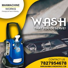Manmachine Works is biggest supplier of , Single Phase High Pressure and car wash machine PAN India at the best prices Car Wash Equipment, Automatic Car Wash, Car Washer, Washer Machine, Car Vacuum, It Works, Waiting, Cleaning, Cars
