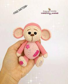 """133 Likes, 4 Comments - amigurumi free pattern, tarif (@hobikulubu) on Instagram: """"Bu güzel tarif için @waterlily_crochet e teşekkürler. Hesabinda çoook tatli farkli tarifler var…"""""""