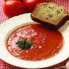 Garden Tomato and Basil Soup « Recipe Farm
