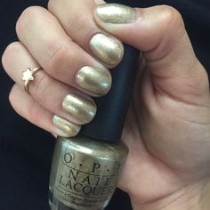 Glitzerland by OPI #goldennails #glitter
