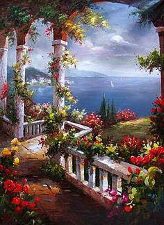 The Floral Arches Over The Mediterranean Sea~ Google Search