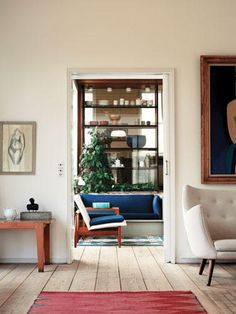 Finn Juhl house in Copenhagen - we spy a Poet Sofa! http://www.nest.co.uk/product/finn-juhl-poet-sofa