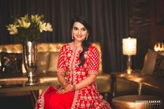 Bridal Wear - The Bride Inderpreet! Photos, Sikh Culture, Beige Color, Hairstyle, Sangeet Makeup, Sangeet Jewellery pictures, images, vendor credits - JW Marriott, Taj Chandigarh, Divishth Kakkar Photography, Prerna Khullar Makeup Artist, Sabyasachi Couture Pvt Ltd, WeddingPlz