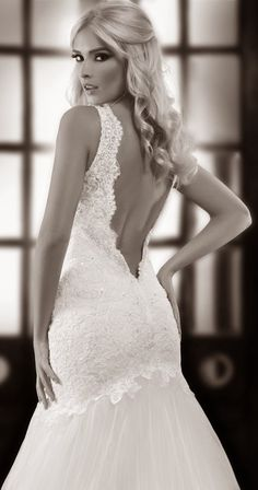 Oh I love this one part II the back of gown One Love by Bien Savvy 2014 Bridal Collection