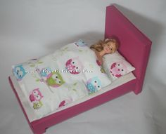 Barbie ágy DIY/Barbie furniture, Barbie bed tutorial
