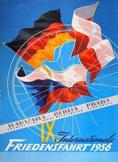 Internationale Radfernfahrt für den Frieden, 1956 ~ Anonym #Cycling #PeaceRace