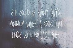Whoever she is lyrics quotes music rain song lyrics
