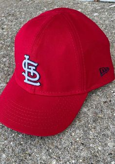 New Era St Louis Cardinals Baby My 1st 9TWENTY Adjustable Hat - Red - 59005521 St Louis Cardinals, Team Logo, Infant, Outfit, Hats, Red, How To Wear, Collection, Fashion