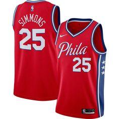 #25 Ben dise/ño de Simmons color azul Camiseta de baloncesto para hombre